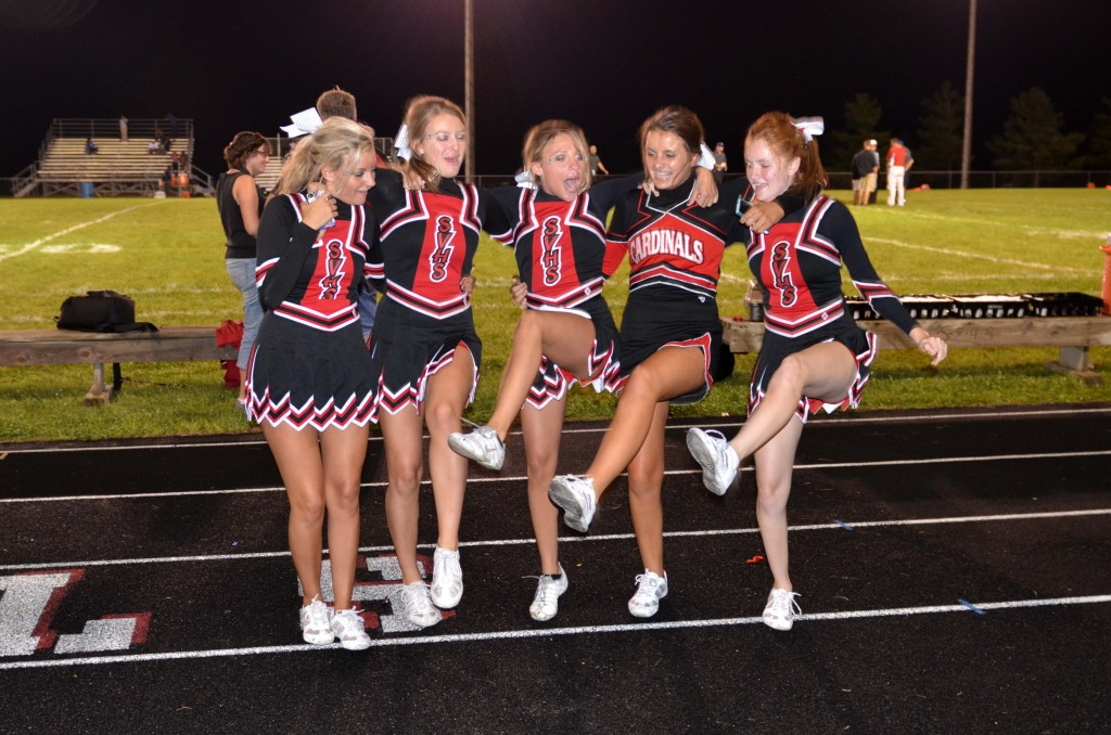 The Stillman Valley cheerleaders gave our community the gift of smiles last Friday night.