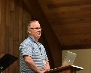 Pastor Chris Brauns speaking at the Christ and Culture Conference in Wisconsin.